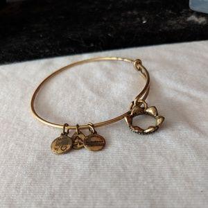 Alex and Ani gold Crown bracelet
